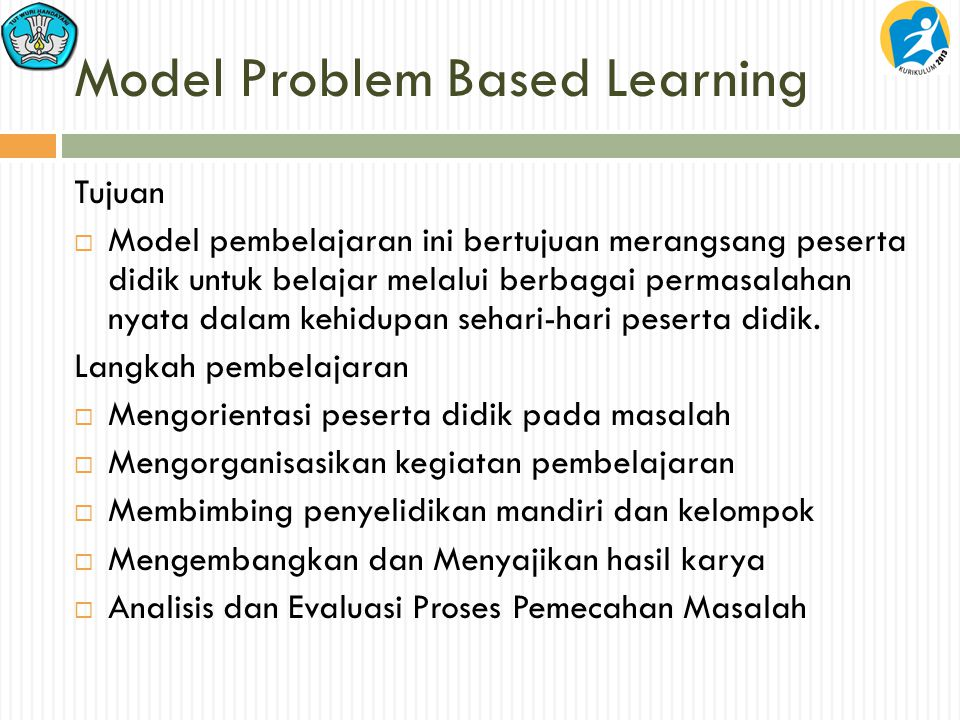Model Problem Based Learning