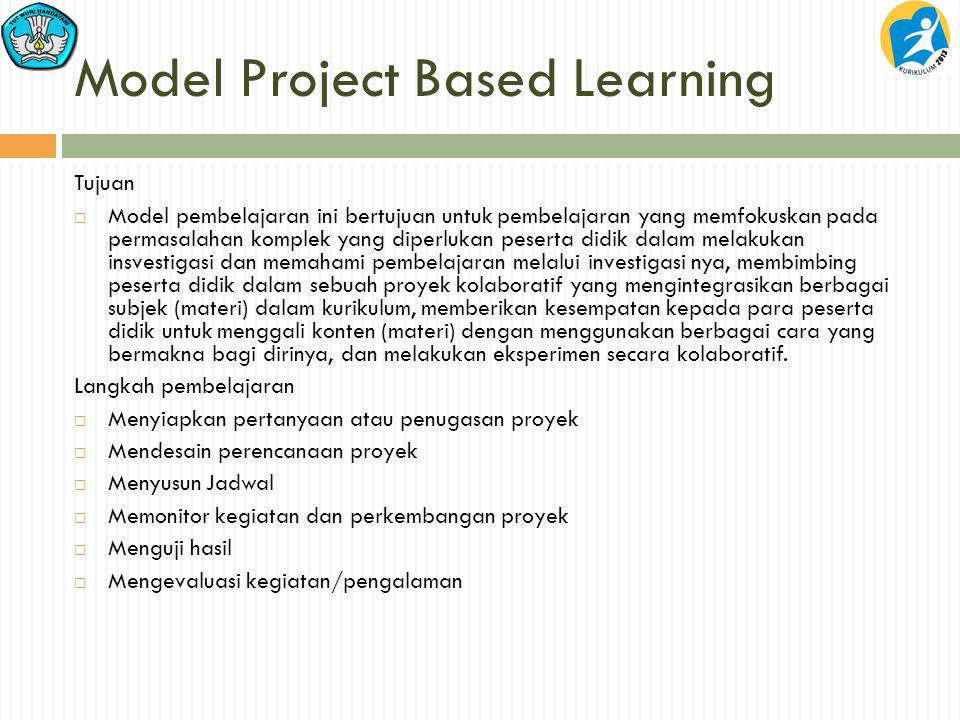 Model Project Based Learning