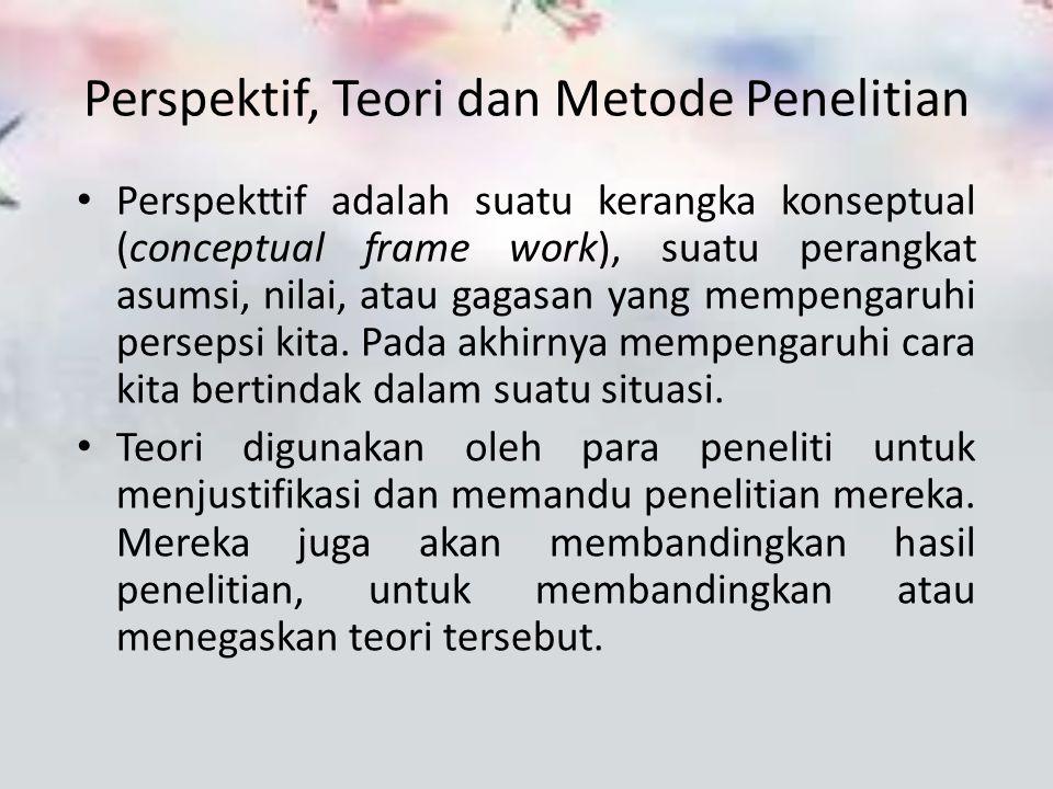 Perspektif, Teori dan Metode Penelitian