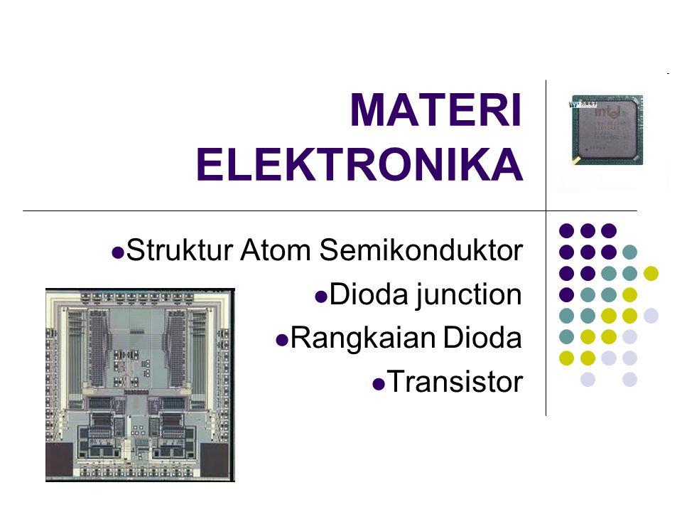 Struktur Atom Semikonduktor Dioda junction Rangkaian Dioda Transistor