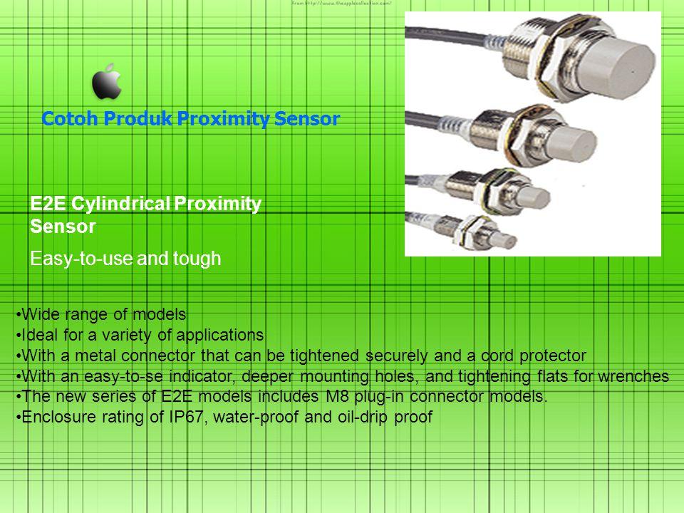 Cotoh Produk Proximity Sensor E2E Cylindrical Proximity Sensor