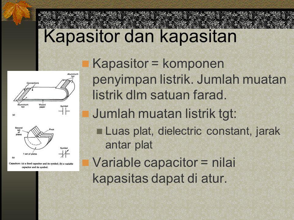 Kapasitor dan kapasitan