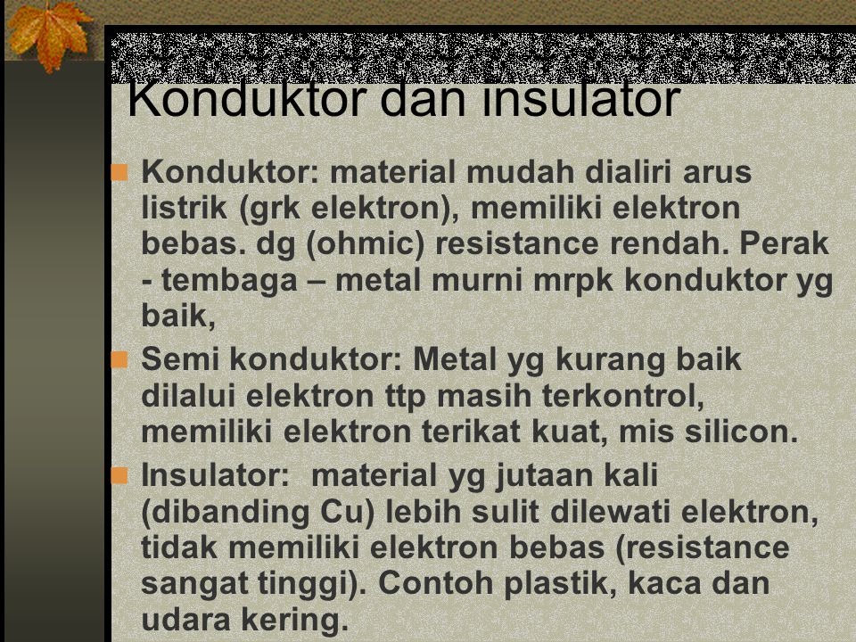 Konduktor dan insulator