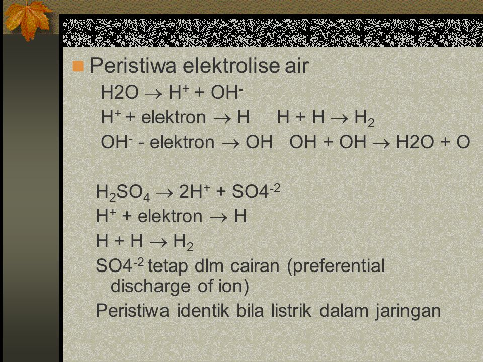 Peristiwa elektrolise air