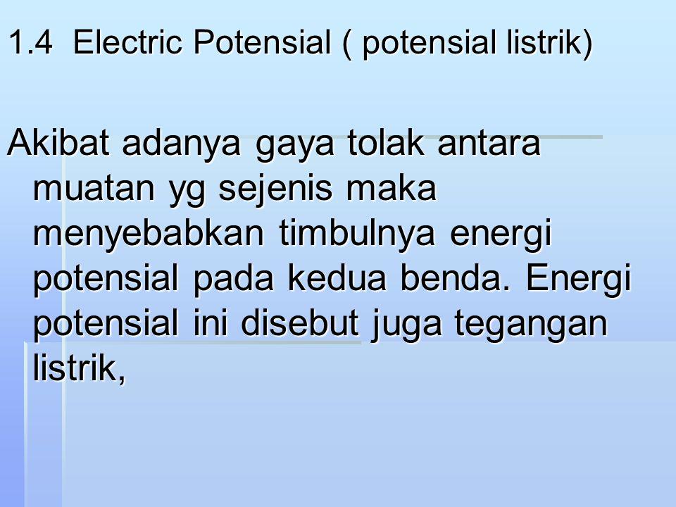 1.4 Electric Potensial ( potensial listrik)