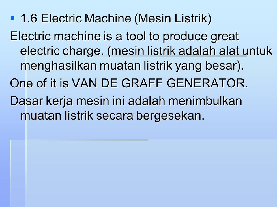 1.6 Electric Machine (Mesin Listrik)