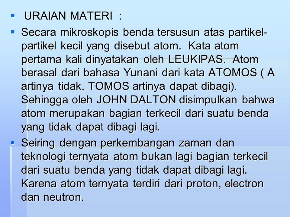 URAIAN MATERI :