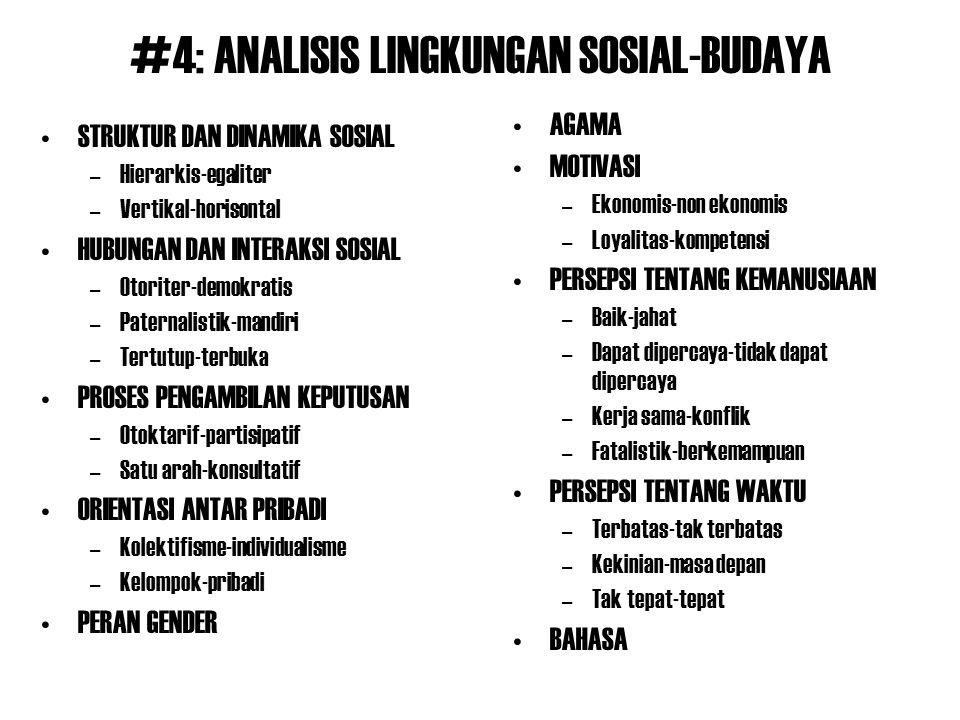 #4: ANALISIS LINGKUNGAN SOSIAL-BUDAYA