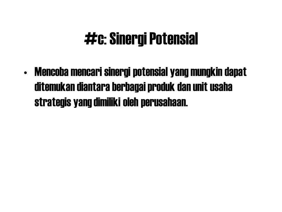 #c: Sinergi Potensial