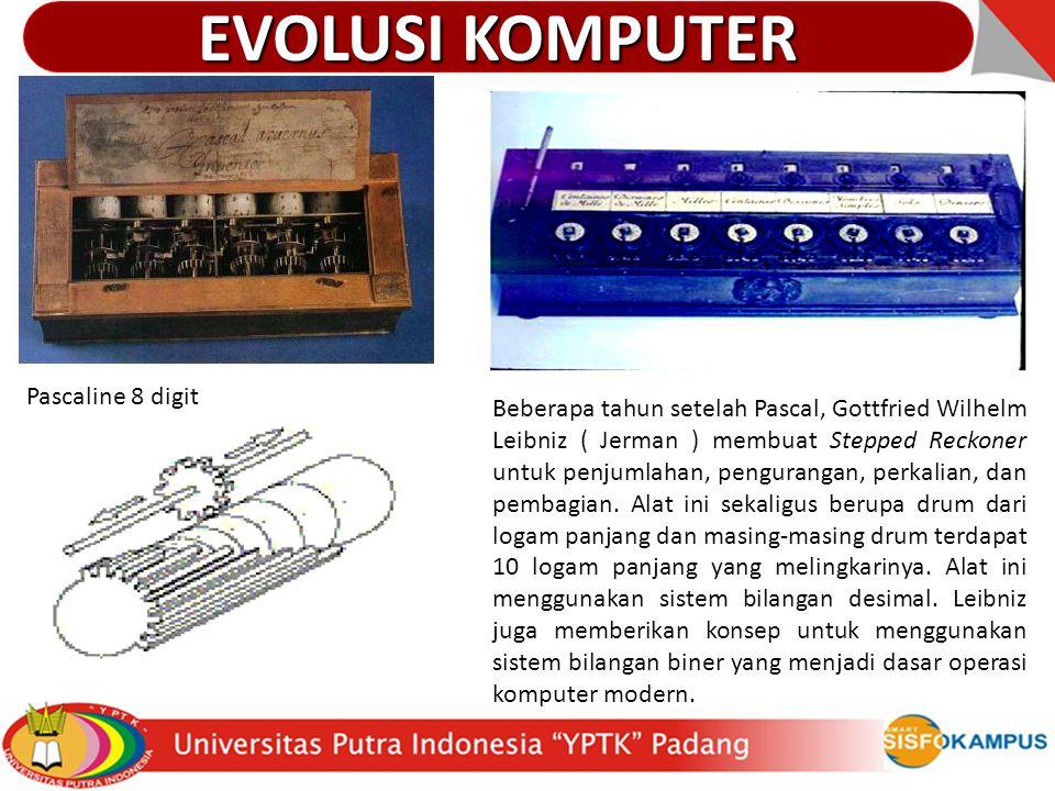 EVOLUSI KOMPUTER Pascaline 8 digit