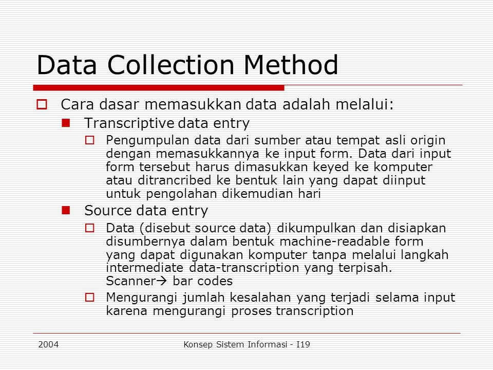 data collection method The standards for education data collection and reporting were developed through the contributions of many individuals, identified in the pages that follow.