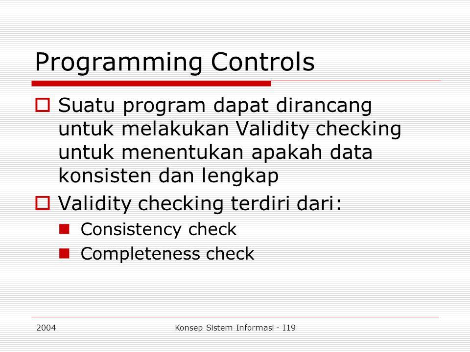 Konsep Sistem Informasi - I19