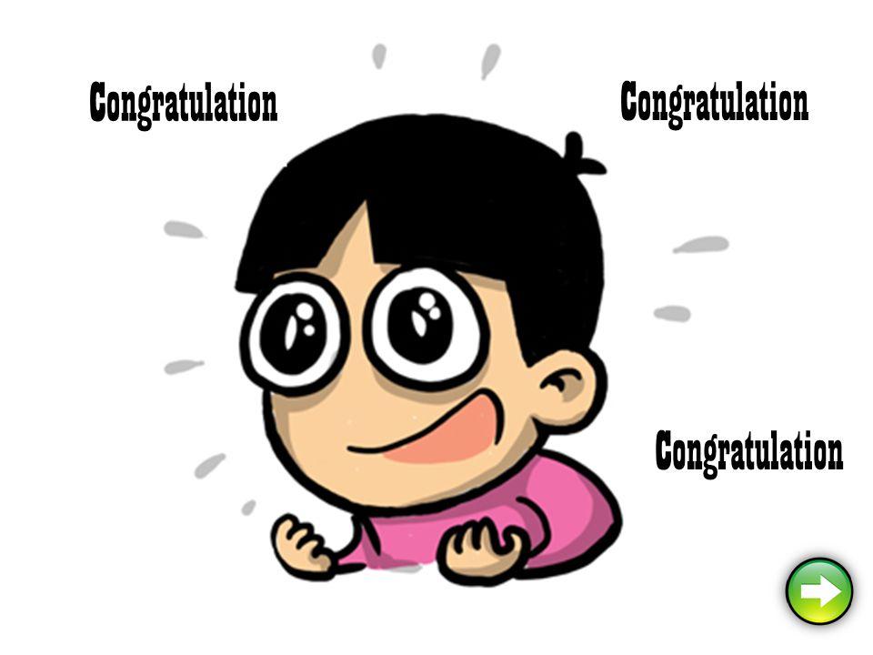 Congratulation Congratulation Congratulation