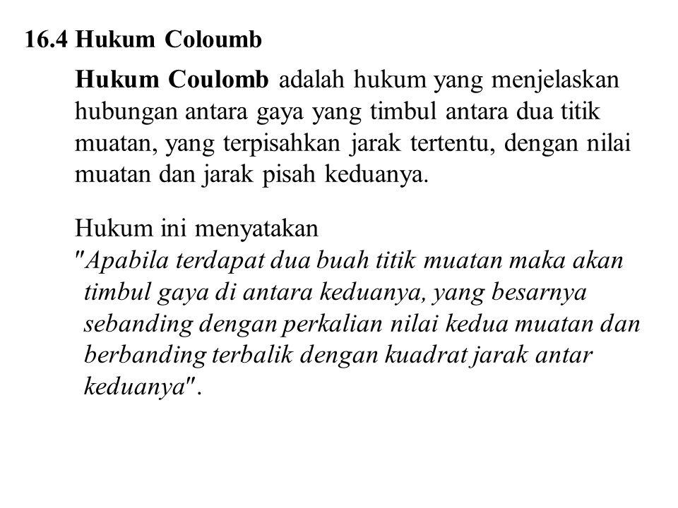 16.4 Hukum Coloumb