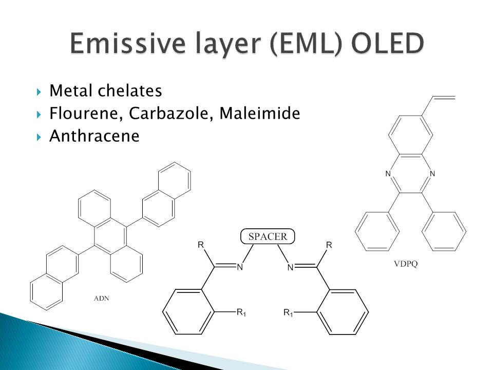 Emissive layer (EML) OLED