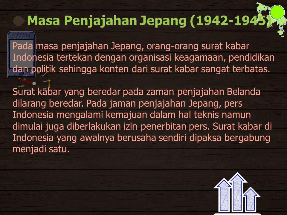 Masa Penjajahan Jepang (1942-1945)