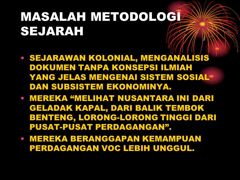 MASALAH METODOLOGI SEJARAH