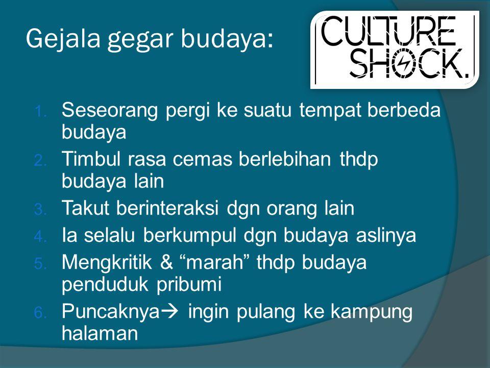 Gejala gegar budaya: Seseorang pergi ke suatu tempat berbeda budaya