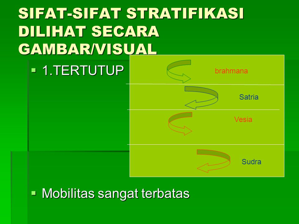 SIFAT-SIFAT STRATIFIKASI DILIHAT SECARA GAMBAR/VISUAL