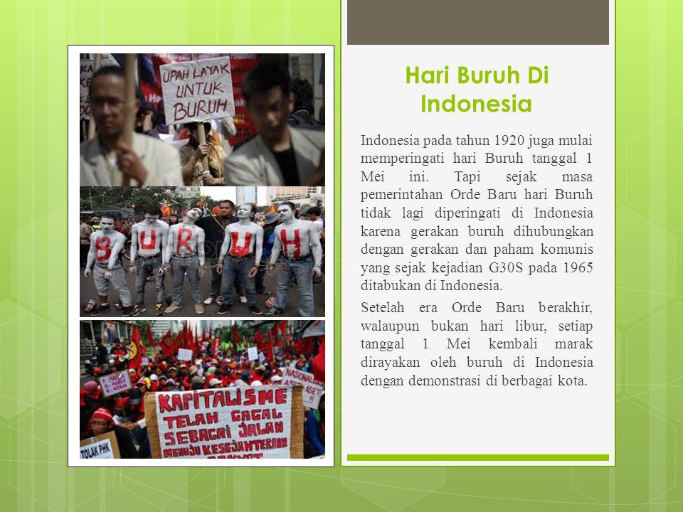 Hari Buruh Di Indonesia