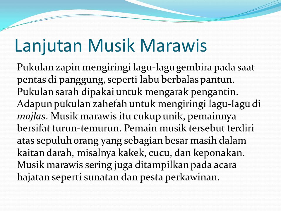 Lanjutan Musik Marawis