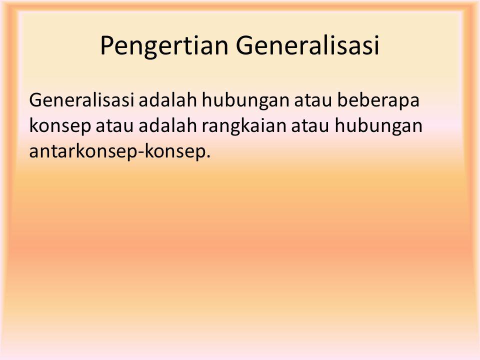Pengertian Generalisasi