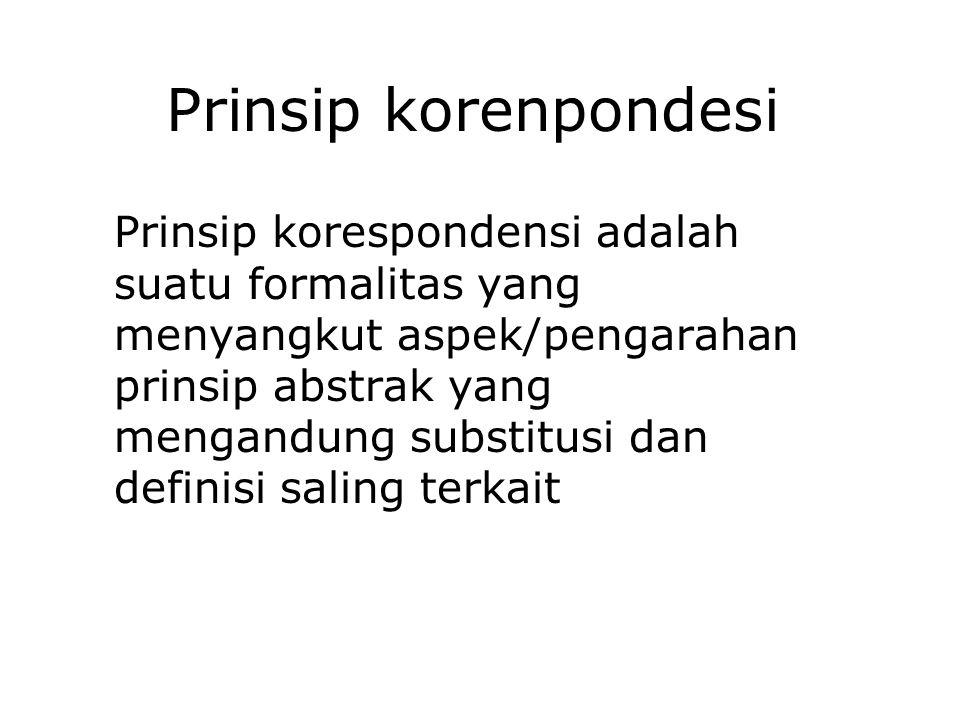 Prinsip korenpondesi
