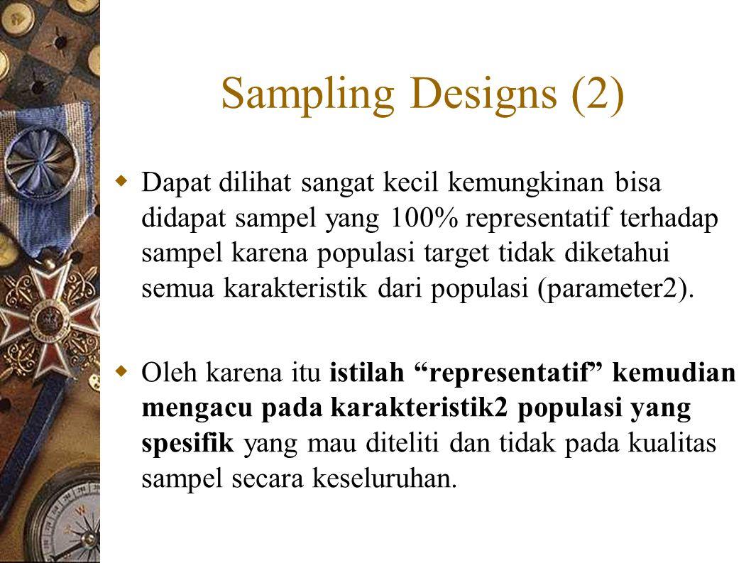 Sampling Designs (2)