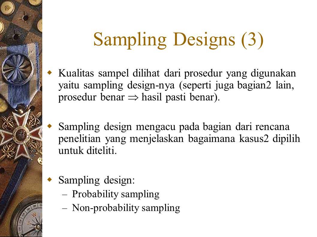 Sampling Designs (3)