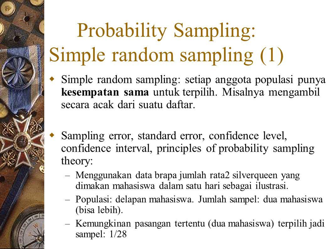 Probability Sampling: Simple random sampling (1)