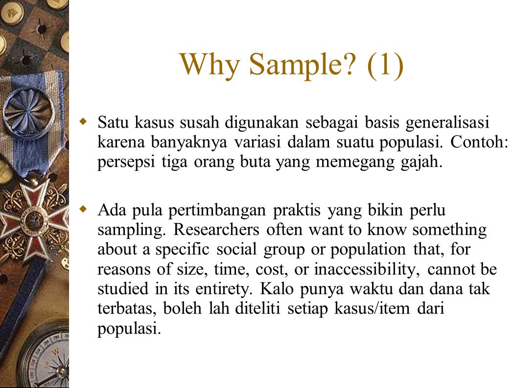 Why Sample (1)