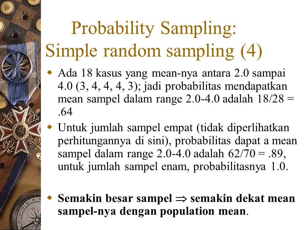 Probability Sampling: Simple random sampling (4)