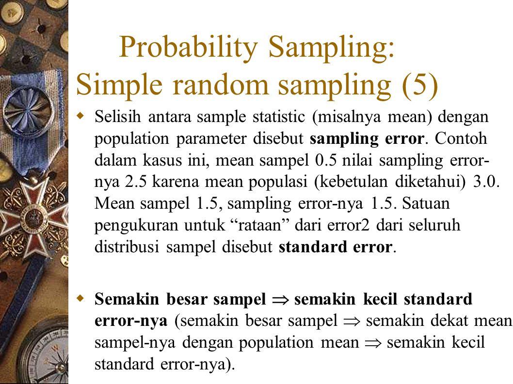 Probability Sampling: Simple random sampling (5)