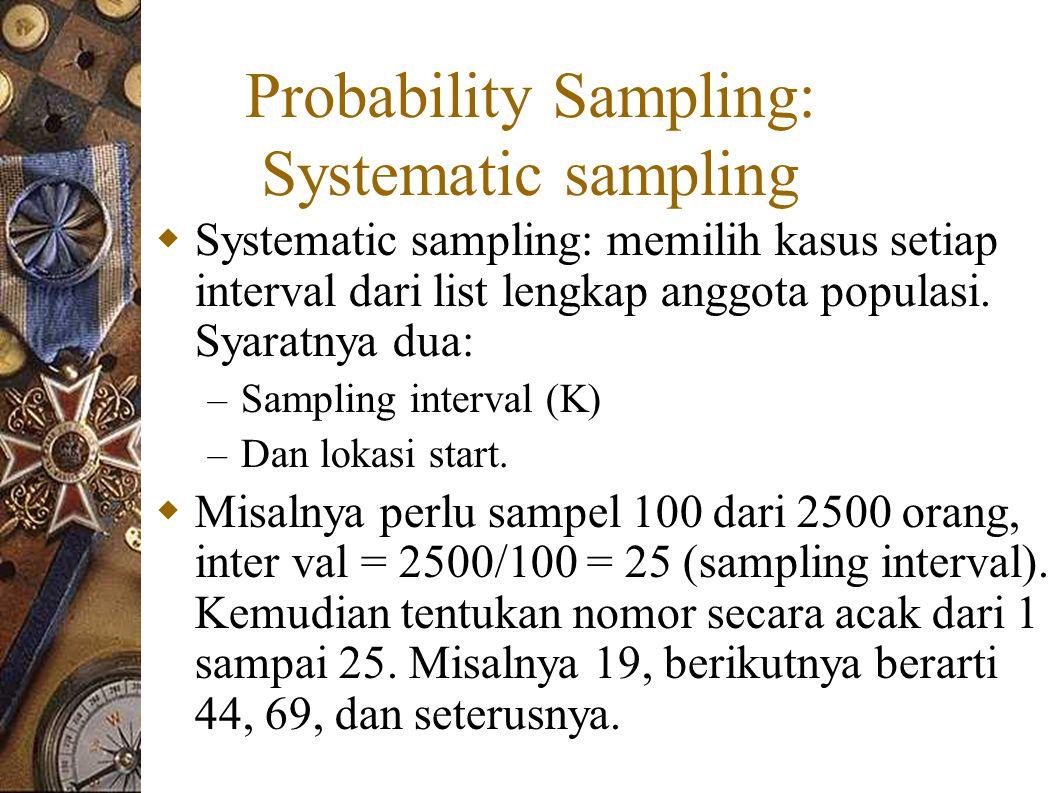 Probability Sampling: Systematic sampling