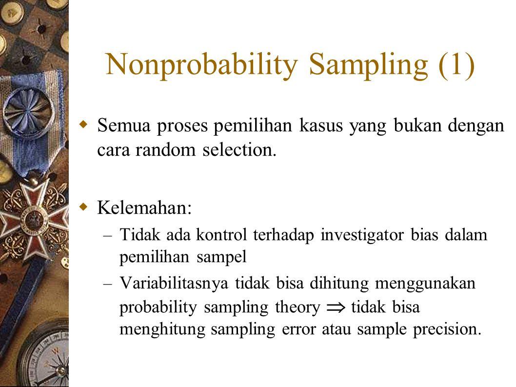 Nonprobability Sampling (1)