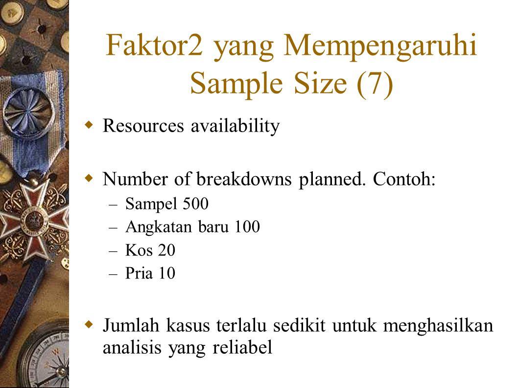 Faktor2 yang Mempengaruhi Sample Size (7)