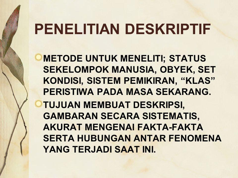 PENELITIAN DESKRIPTIF