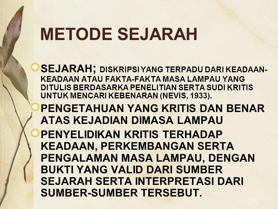 METODE SEJARAH
