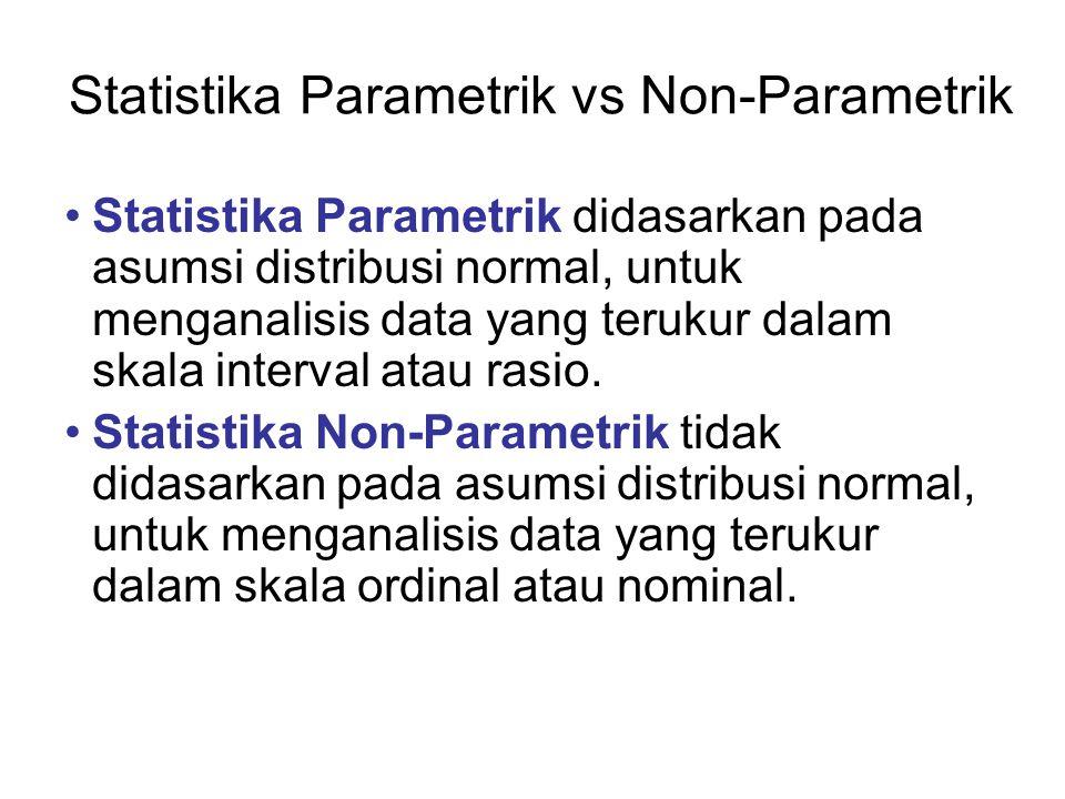 Statistika Parametrik vs Non-Parametrik