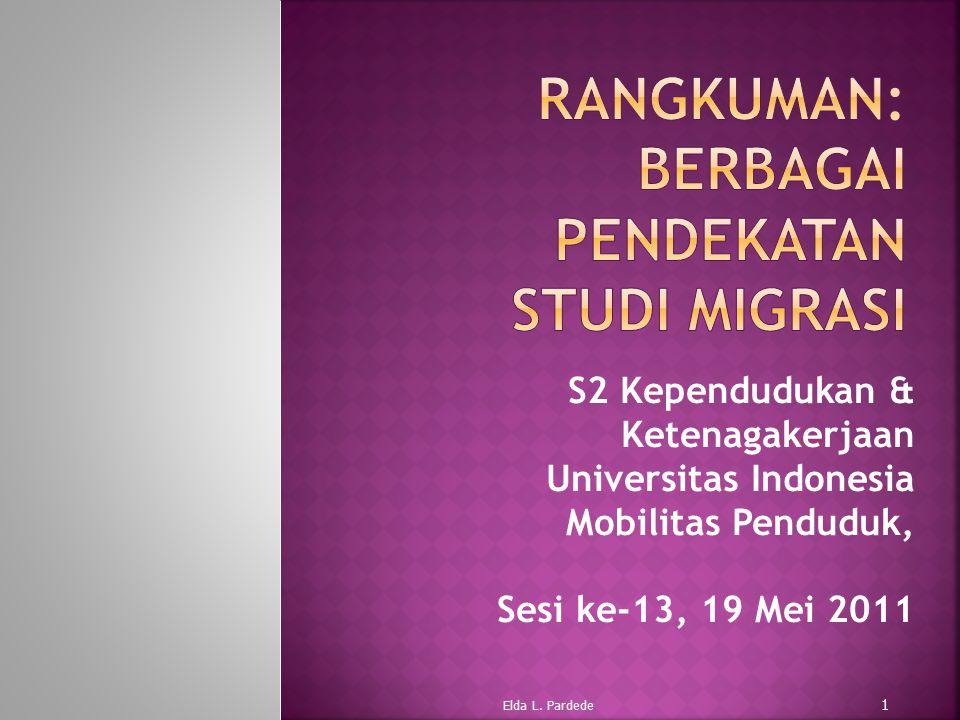 Rangkuman: Berbagai Pendekatan Studi Migrasi