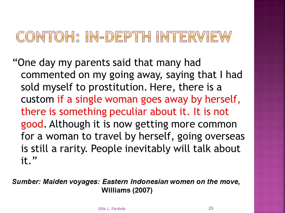 Contoh: In-depth interview