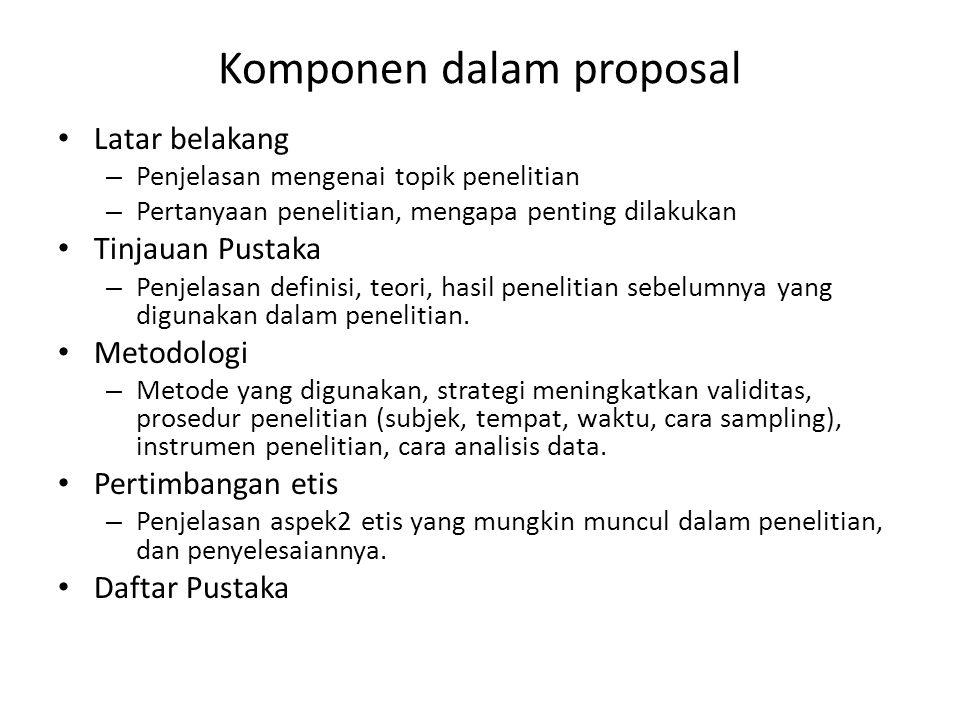 Komponen dalam proposal