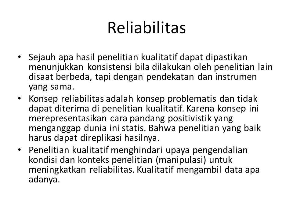 Reliabilitas