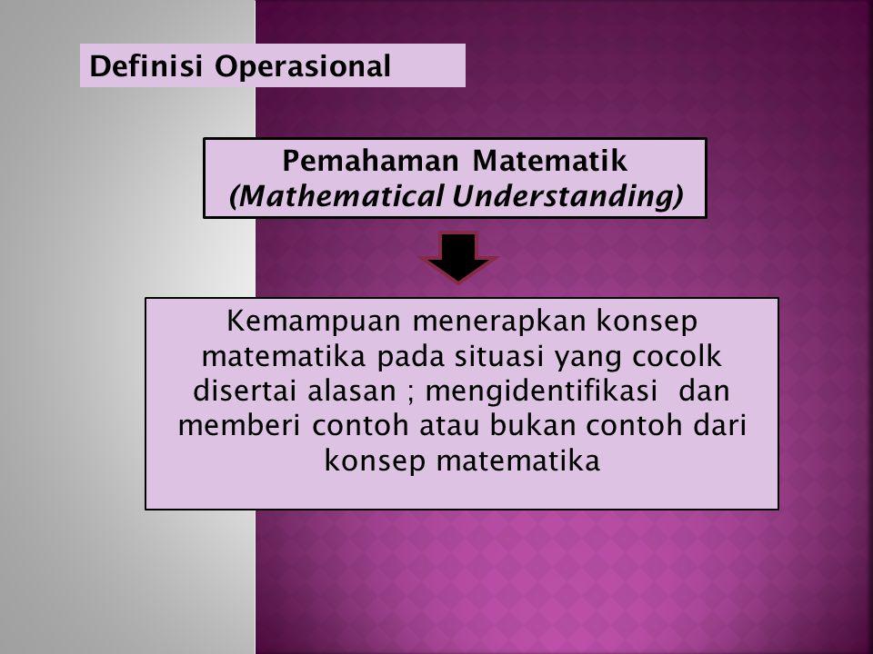 (Mathematical Understanding)