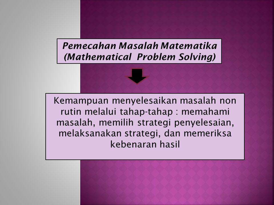 Pemecahan Masalah Matematika (Mathematical Problem Solving)