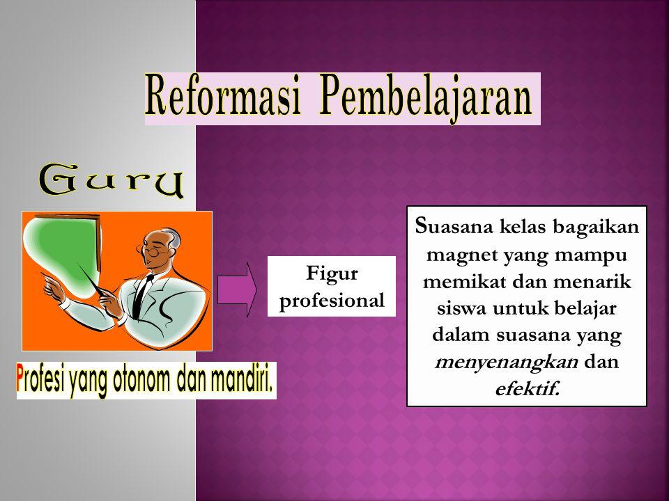 Reformasi Pembelajaran Profesi yang otonom dan mandiri.