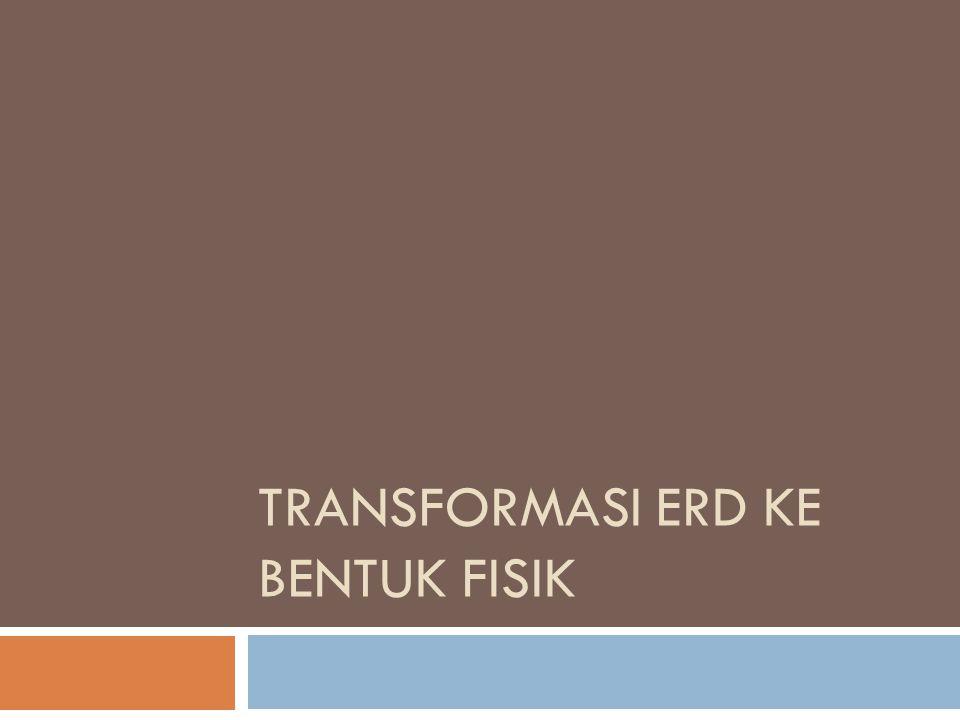 Transformasi ERD Ke Bentuk Fisik