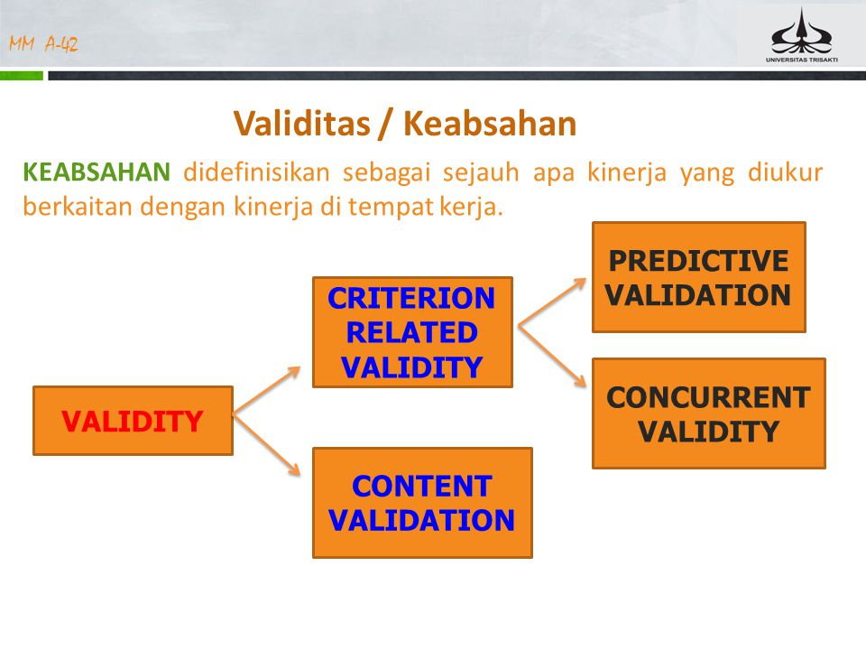 PREDICTIVEVALIDATION CRITERION RELATED VALIDITY