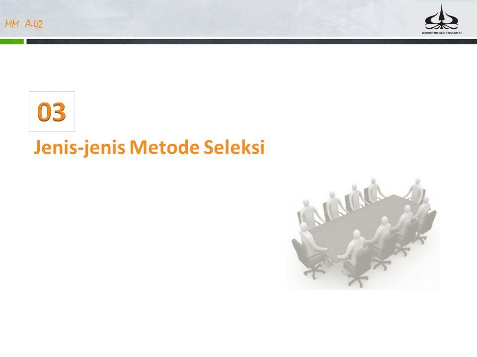 03 Jenis-jenis Metode Seleksi