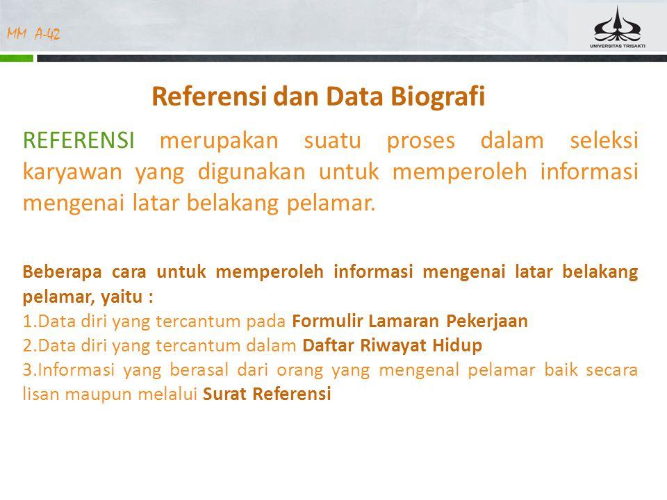 Referensi dan Data Biografi